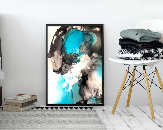 Mystic Blue II Art Print (Unframed)