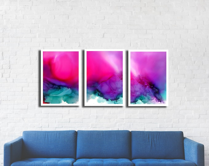 Cotton Candy Triptych 3 print set