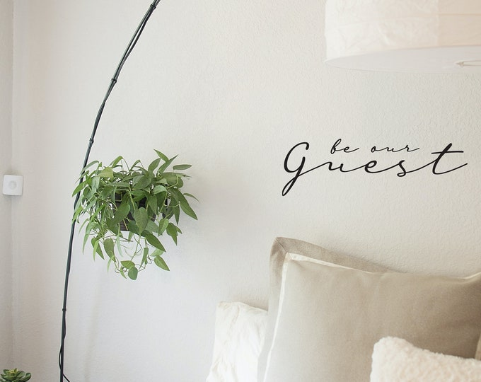 Be Our Guest Removable Wall Decal Sticker (Black) - Free Shipping