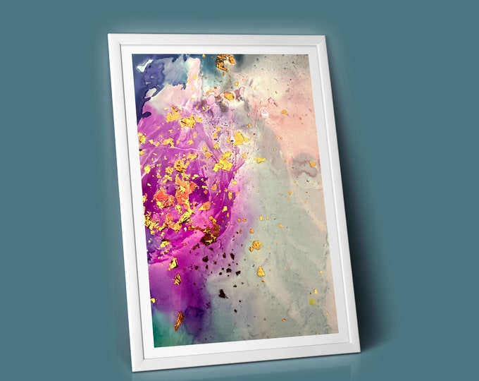 Flicker Fluid Art Print (Unframed)