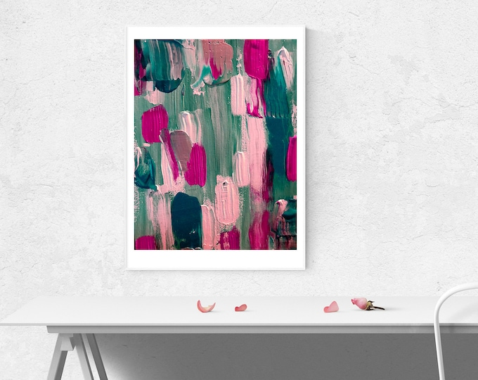 Umbrella Abstract Art Print (Unframed)
