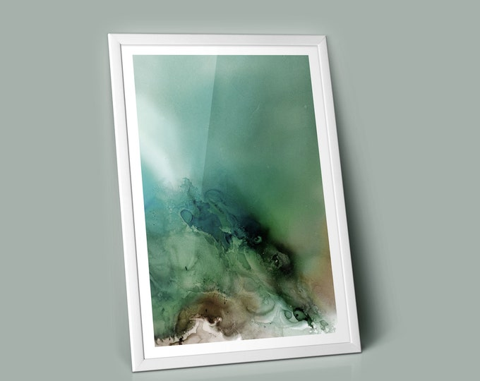 Frost Fluid Art Print (Unframed)
