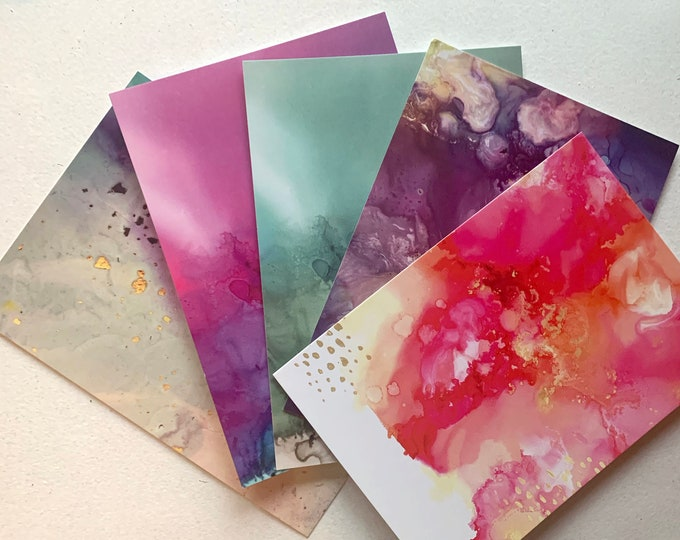 Fluid Art Postcards (5 pack)