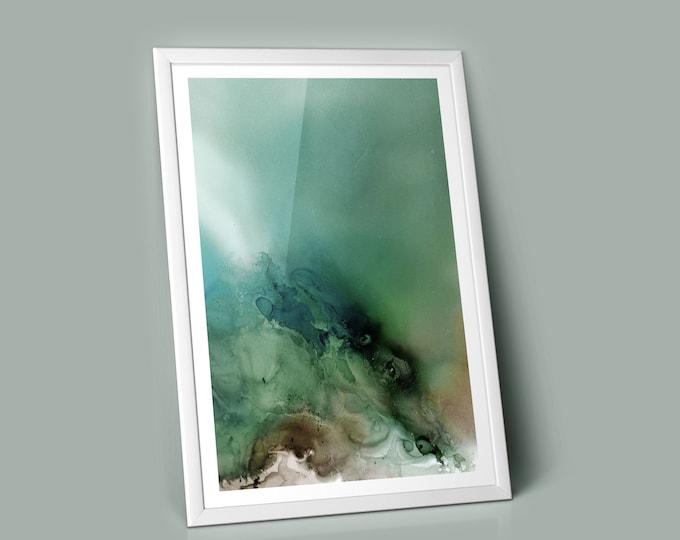 Frost Fluid Art Print (Unframed)