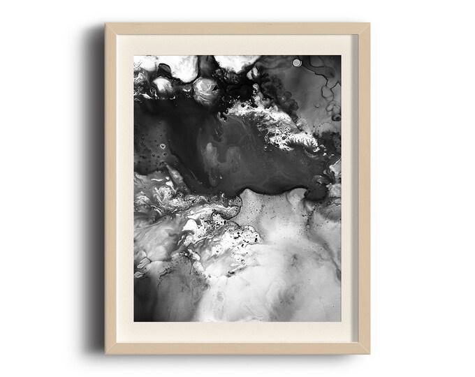 Wanderer Abstract Fluid Art Print (Unframed)