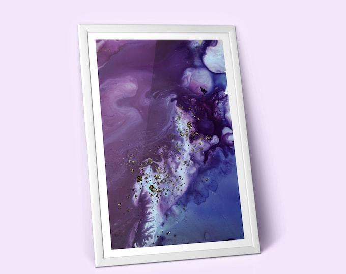 Dusk Fluid Art Print (Unframed)