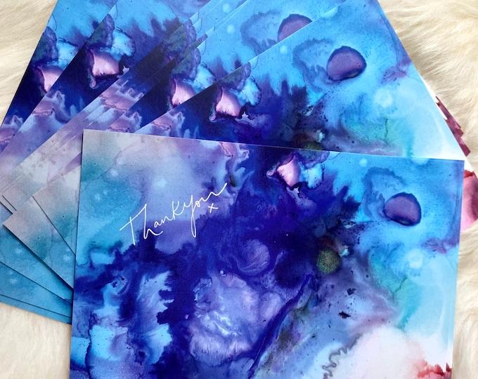 Fluid Art Thank You Postcards (8 pack)