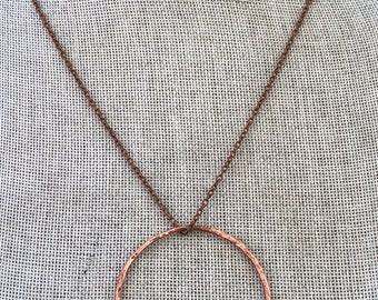 Copper Circle Infinity Necklace / Artisan Infinity Necklace / Large Copper Circle Necklace / Made to Order