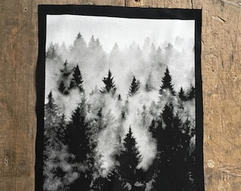 Pine Forest tree Back patch