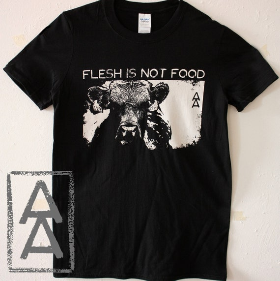 Flesh Is Not Food Vegan Animal Rights Shirt Punk by Etsy