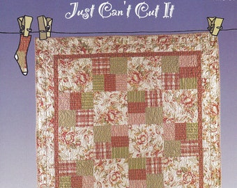 New Just Can't Cut It Quilt sewing pattern by All Washed Up
