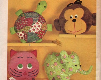 Vintage 1971 Simplicity #9740 Pillow Toys or Pajama Bags Sewing Pattern