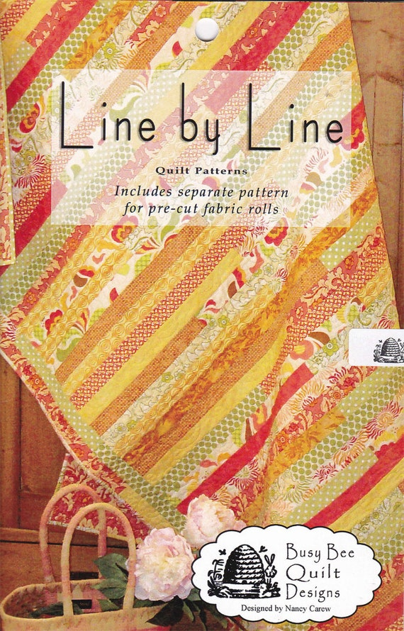 Line By Line Strip Quilt Sewing Pattern By Busy Bee Quilt Etsy