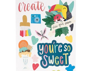Shimelle Box of Crayons Cardstock Stickers  -- MSRP 4.00