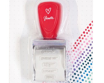 Shimelle Box of Crayons Rotary Phrase Stamp -- MSRP 6.00