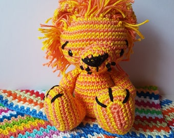 Lion Toy - Crocheted lion with mane