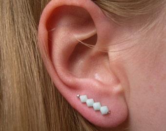 0b4f085b3 Mint Stud Earrings, Crystal Pins, Swarovski Pin Earrings, Fashion Jewelry UK