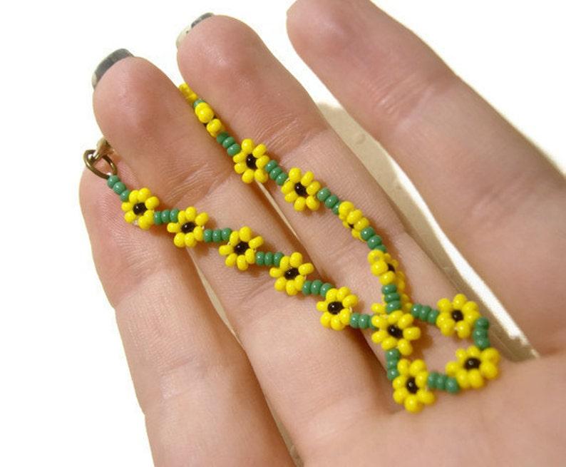 ef90c668da55 Abalorios pulsera girasol semilla grano pulsera amarillo
