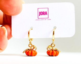 Pumpkin Earrings, Halloween Earrings, Novelty Earrings, Pumpkin Jewelry in the UK