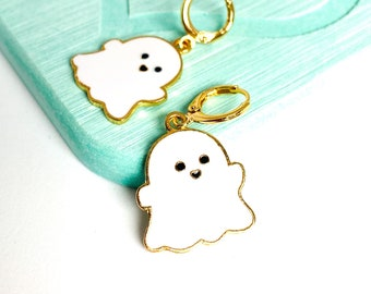 Cute Ghost Earrings, Halloween Earrings, Spooky Earrings, Halloween Jewelry, UK Gifts Under 15