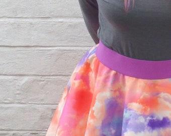 613bd0a52d5 Orange Cloud Scuba Circle Skirt