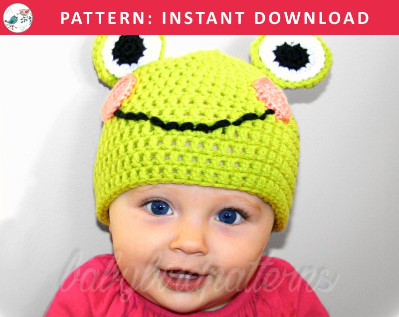 Smiley Frog Cute Crochet Frog Hat Pattern For Babies And Etsy
