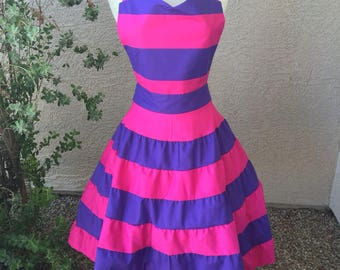 Cheshire Cat apron dress & Cheshire cat costume | Etsy