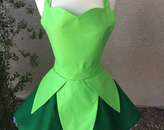 Plus- Tinkerbell costume apron dress : etsy tinkerbell costume  - Germanpascual.Com