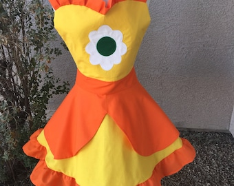 Princess Daisy apron dress