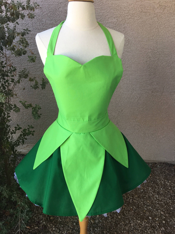 Tinkerbell costume apron dress | Etsy