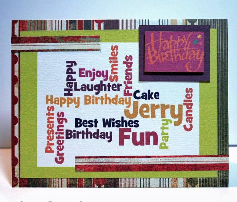 Personalized Birthday Card Custom Made Handmade
