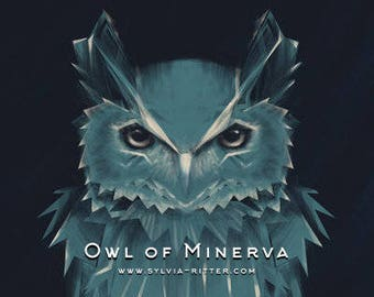Owl of Minerva - Large Signed Giclée Print