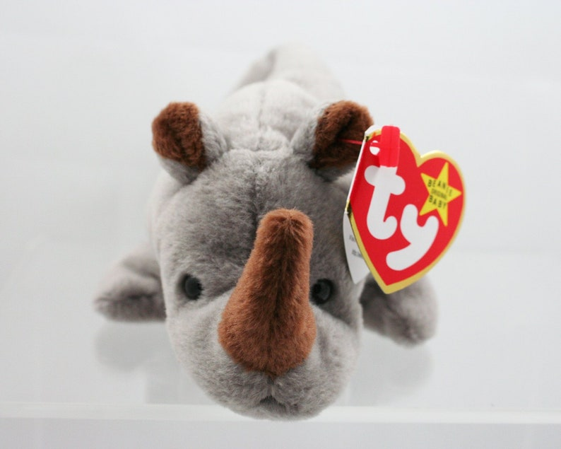 ab985145319 Vintage 1990s TY beanie baby 4060 Spike the rhino August 13