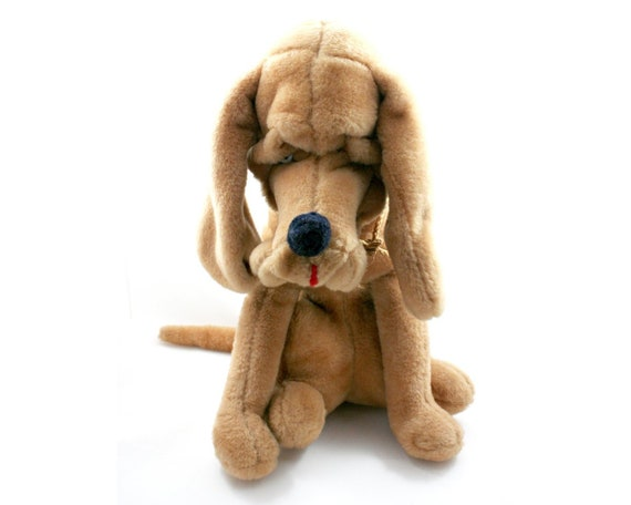 Vintage 1970s Rushton Hound Dog Plush Stuffed Animal Toy Tan Etsy