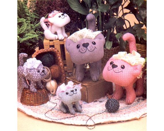 Vintage 1980er Jahre hier Kitty Katze Schnittmuster gefüllte