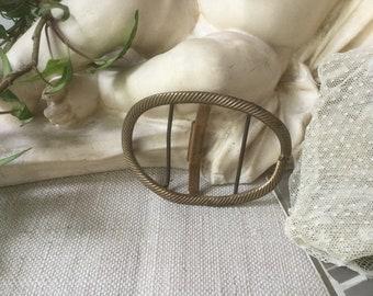 French vintage belt buckle, dress ornament