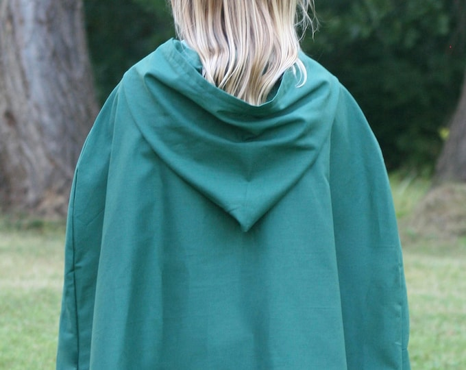 Dark Green Cloak, Youth, Hooded