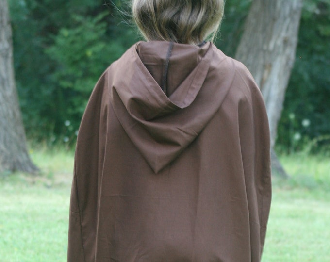 Dark Brown Cloak, Youth, Hooded