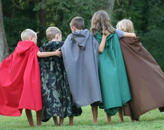 Hooded Cloak - Youth, Multiple Color Options