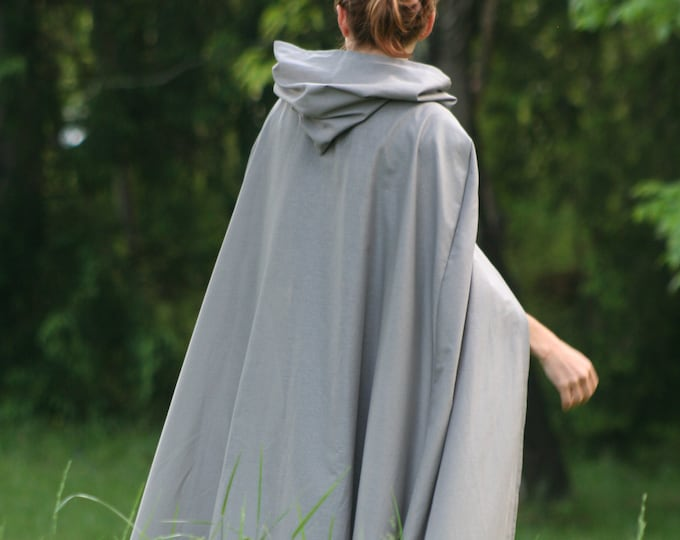 Gray Hooded Cloak, Adult size