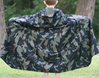 Camouflage Hooded Cloak - Youth size