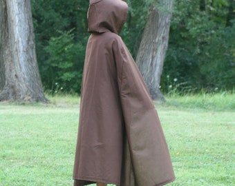 Dark Brown Hooded Cloak - Youth size