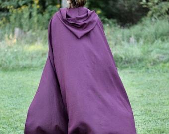 Dark Purple Linen Cloak