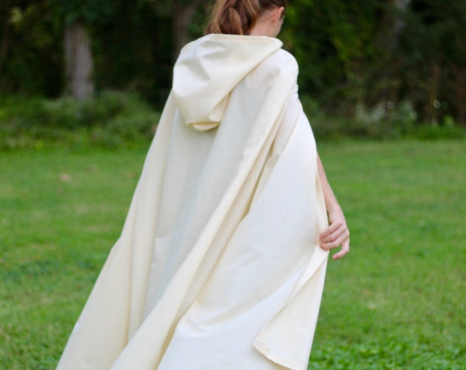 Cream Hooded Cloak - Adult size