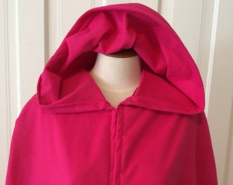 Hot Pink Hooded Cloak - Limited Edition**