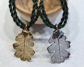 Ranger's Oak Leaf Necklace - Silver or Gold