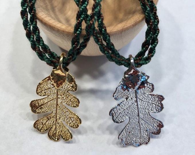 Ranger's Oak Leaf Necklace - Silver or Gold