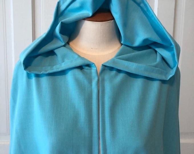 Light Blue Hooded Cloak, Linen - Limited Edition**
