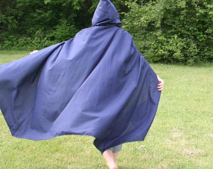 Navy Hooded Cloak - Adult size