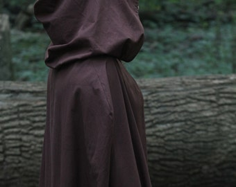 Dark Brown Hooded Cloak - Adult size
